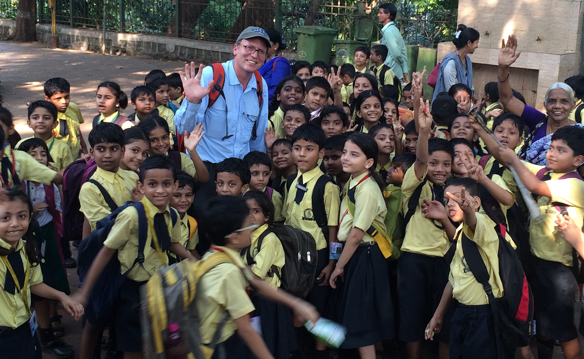 Author, John Shors, in India